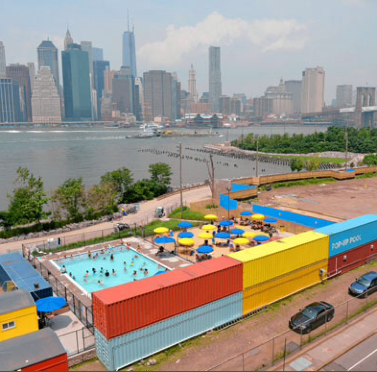 Yuggler Brooklyn Bridge Park Pop Up Pool